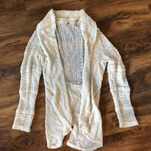 Anthropologie Knitted and Knotted Cream Cardigan M